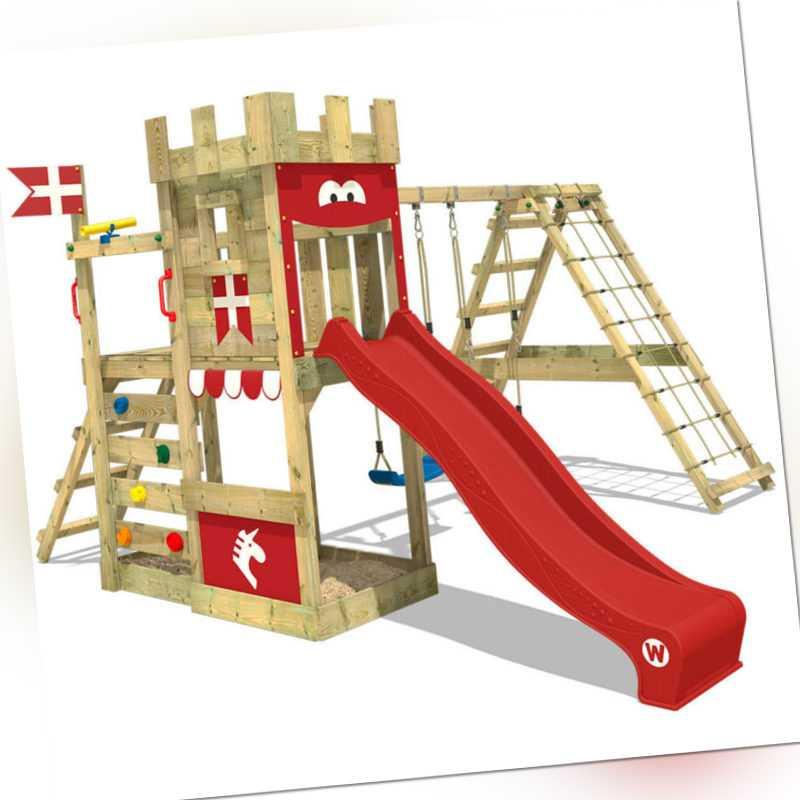 WICKEY Klettergerüst Spielturm DragonFlyer - mit Doppelschaukel