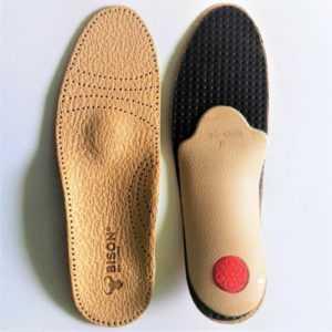 BISON Premium Luxus orthopädische Leder Schuheinlagen Fußbett Einlegesohlen