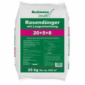 Langzeitwirkung Rasendünger 25 kg Premium für ca. 830m² Rasen Beckmann Profi