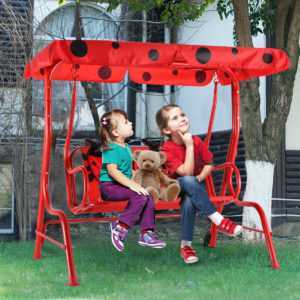 Kinder Hollywoodschaukel Kinderschaukel  Gartenschaukel Schaukelbank 2-Sitzer