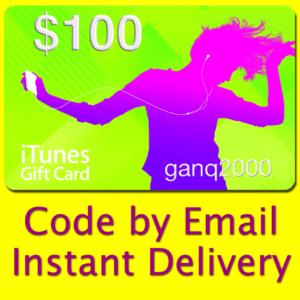 $100 APPLE US iTunes GIFT CARD voucher certificate FAST (USA iTunes Store)