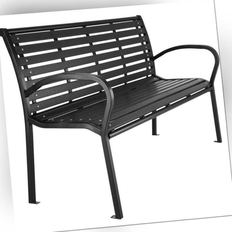 Gartenbank 3-Sitzer Sitzbank Parkbank Metall Bank Balkon Gartenmöbel schwarz Neu