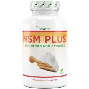 MSM - 400 Tabletten a 1000mg + natürliches Vitamin C - vegan & hochdosiert Vegan