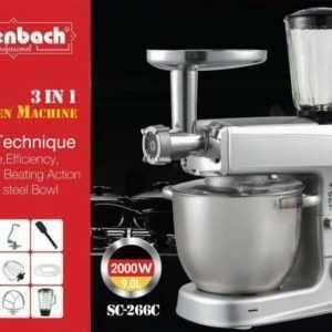 Küchenmaschine Rührmaschine Knetmaschine Teigkneter 3in1 9 L 2000...