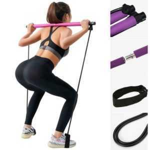 Pilates Stab-Stock-Eignungs-Übungsstab-Yoga-Gymnastikstock mit Widerstand-Band