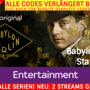 3 MONATE SKY ENTERTAINMENT TICKET 💕 INKL. BABYLON BERLIN St. 1-3 💕 NUR € 9,99*