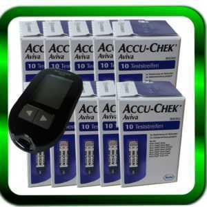 ACCU CHEK Aviva 10 x 10 Sensoren Teststreifen | 100 Teststreifen ►Händler◄