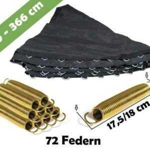 Trampolin Sprungmatte 366 für 72 V-Ringen und federn lange 18 cm | Sprungtuch