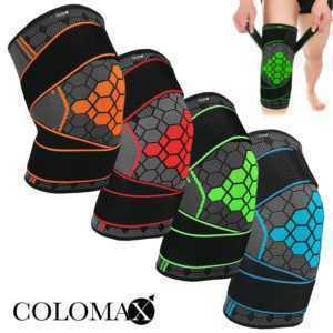 Kniebandage von COLOMAX Hochwertige Klett-Kniebandage Kniestütze Sport Fitness
