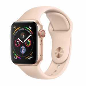 Apple Watch Series 4 GPS+Cellular, 44mm Gold, mit Sportarmband Sandrosa