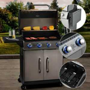Gasgrill Grillwagen BBQ Grill Grillstation Griller Edelstahl Brenner broilcue®
