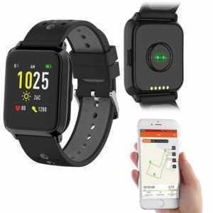 GPS-Sportuhr, Always-On-Display, Bluetooth, App, IP68, 1 Mon. Laufzeit