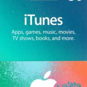 iTUNES GIFT CARD $50 Dollar - 50 USD US APPLE Store Key iPhone iPad Mac Code