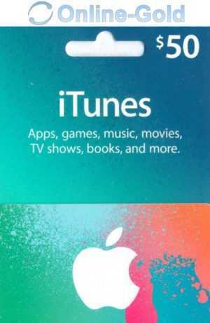 iTUNES GIFT CARD $50 Dollar - 50 USD US APPLE Store Key iPhone iPad Mac Code