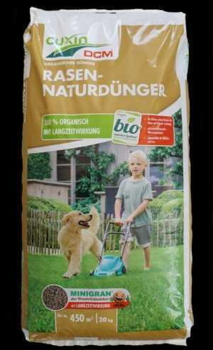 Cuxin Rasen-Naturdünger 20 kg organisch Langzeitwirkung Minigran Bio Rasendünger
