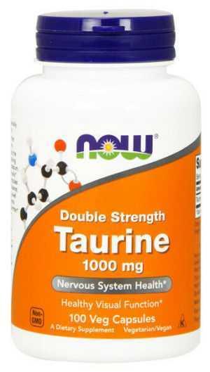 Now Foods, Taurin, Double Strength, 1000mg, 100 Veg. Kapseln - Blitzversand