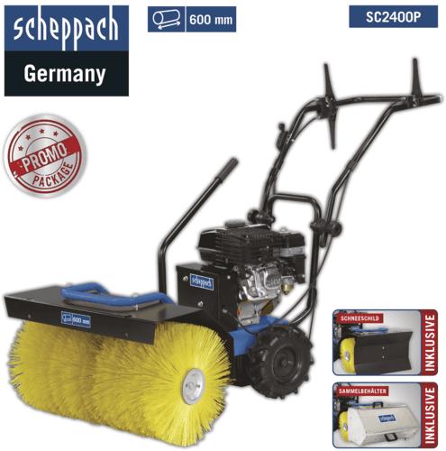 3in1 Benzin Kehrmaschine 6,5PS Schneefräse Schnee Motorbesen Scheppach SC2400P