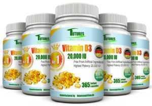 Vitamin D3 20000IU 1-5 Flaschen weich Gel Kapseln 20.000IU per kapseln.!!!