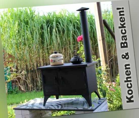 Outdoor Küchenofen Garten-Herd Gartenküche + Schornstein Außenküche Gartenkamin