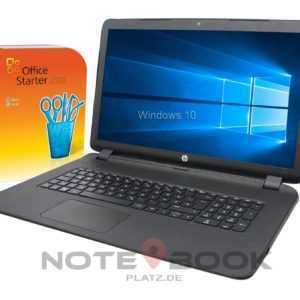 HP Notebook 17 Zoll ~ Intel Dual Core ~ 2x 2,6GHz~ 4GB ~ 1TB ~ Win10/Office 2010