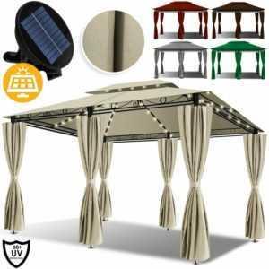 KESSER® LED Pavillon Festzelt 4x3m Partyzelt Pavillion Garten Gartenpavillon