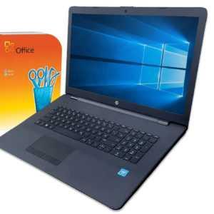 HP Notebook 17 Zoll HD+ Intel  2x 2,60GHz  8GB 256  Win10 / Office2010 / Laptop