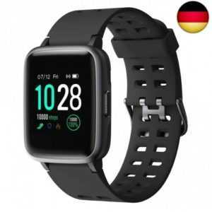 YAMAY Smartwatch,Fitness Armband Uhr Voller Touch Screen Fitness Uhr  (Black)
