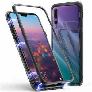 Magnet Bumper Case Für Huawei P20 Lite Pro Handy Hülle Glas MetaLL Schutz Hülle