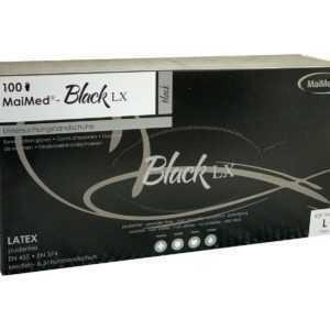 MaiMed Latex Handschuh Größe L schwarz 100 Stück Einmalhandschuh