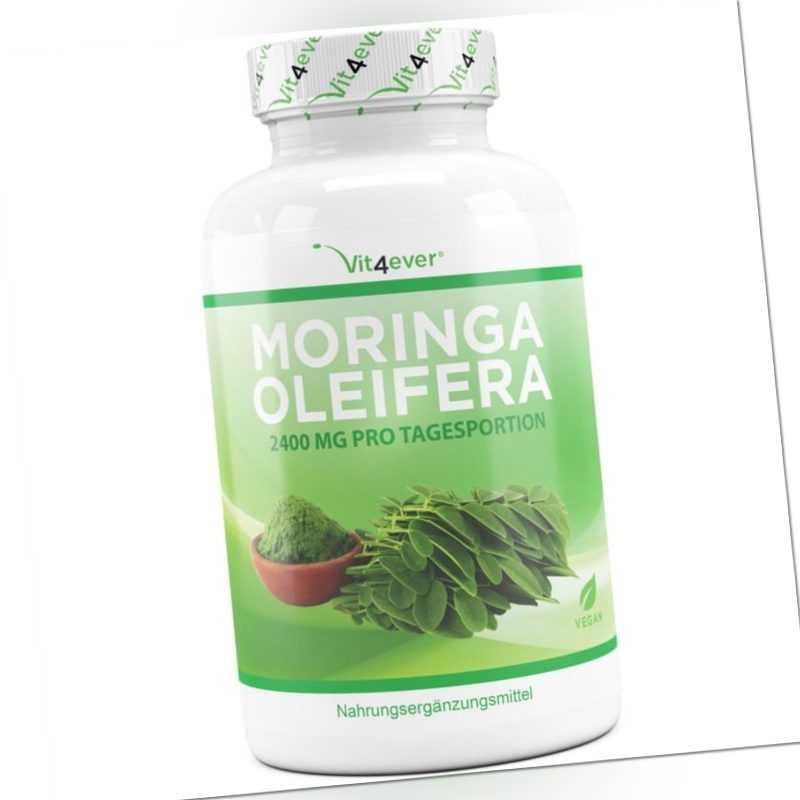 Moringa Oleifera - 240 Kapseln - 600 mg pro Kapsel - Vegan - Premium - Vit4ever