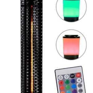 Heizstrahler mit LED Beleuchtung & Lautsprecher, Terrassenstrahler Heizpilz