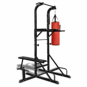 vidaXL Fitness Kraftturm mit Trainingsbank und Boxsack (90667)