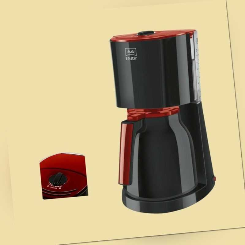 Melitta Thermo-Kaffeemaschine Enjoy Therm 1017-10 - schwarz/rot
