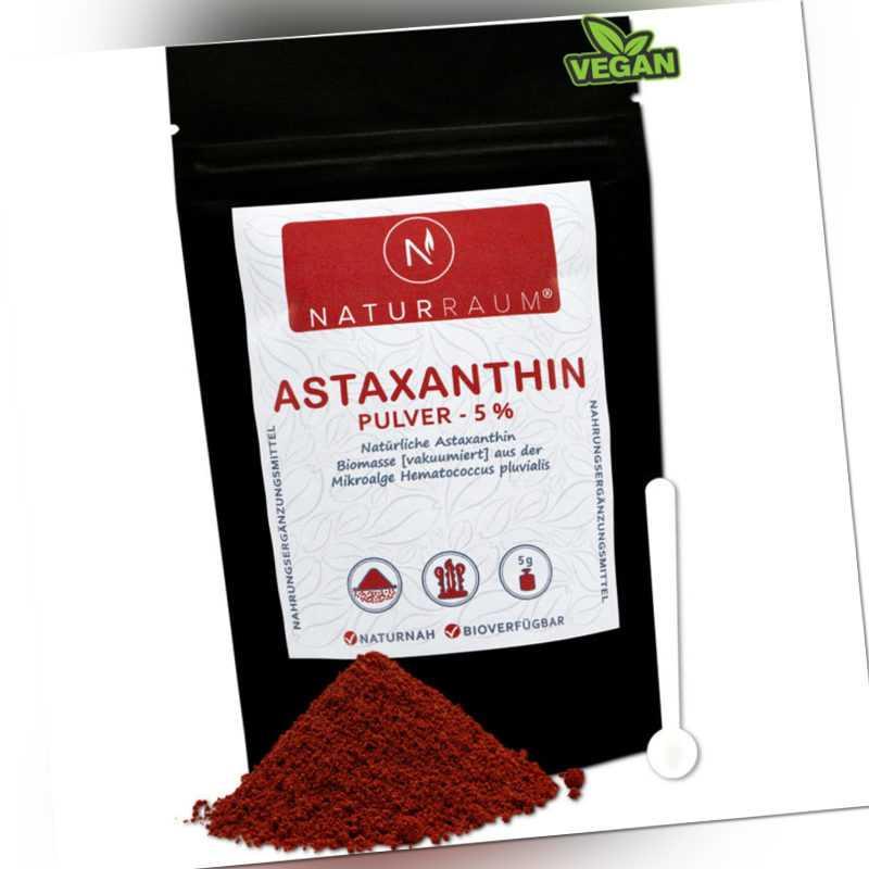 Astaxanthin Pulver 5% ⭐VAKUUMIERT⭐HOCHDOSIERT⭐5g mit 250 mg für 4,8,12mg?VEGAN