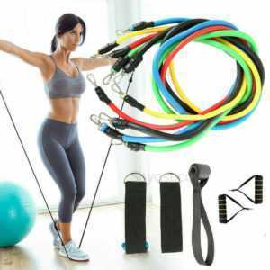 11stk Widerstandsbänder Gymnastikband Fitnessbänder Expander Set Yoga Training
