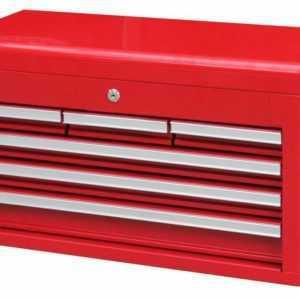 Kugelgelagerter Werkzeugkoffer Werkzeugkiste mit Schloß, rot Aufsatz Schubladen