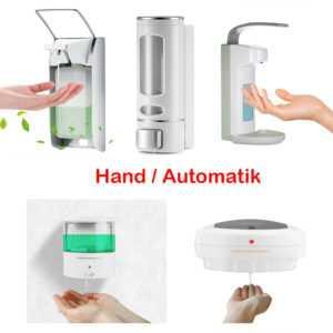 Hand / Automatik Wand Desinfektionsmittelspender Seifenspender Wandmontage DHL