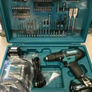 MAKITA Akku-Schlagbohrschrauber HP333DSAX1 12 Volt im Koffer + Zubehörsatz 74tlg