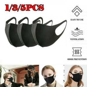 3xWaschbar Atemschutz Gesichtsmaske Mundschutz Aktivkohlefilter Wiederverwendbar