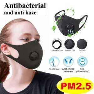 1-5x Waschbare wiederverwendbare Mundmasken Atemschutzmaske für den Außenbereich