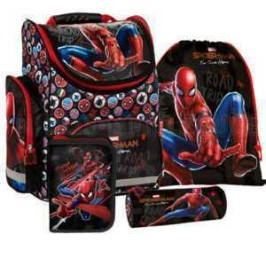 Spiderman Spinne Schulranzen Tornister Ranzen Set 4 teilig Sportbeutel Mäppchen