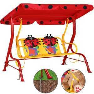 Kinderschaukel Hollywoodschaukel Gartenschaukel Schaukelbank mit Dach 2-Sitzer