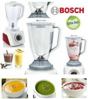 Standmixer Bosch SilentMixx 2,4 L Küchenmaschine Eiscrusher Mixer...