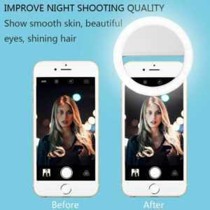 Selfie Licht Ring Handy Blitz Flash Light mit 36 LED Für iPhone Für Samsung DE