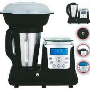 10in1 Thermo Multikocher Küchenmaschine 1350W Kochen Mixen Black C...