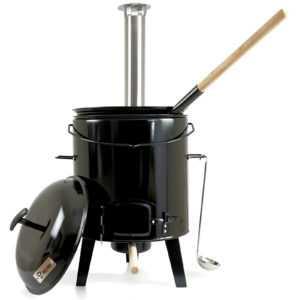 BBQ-Toro Gulaschkanone | Gulaschkessel  | Eintopfofen 17 L emailliert mit Deckel