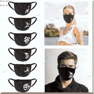 Schwarze Maske Jugendmode Gesichtsmaske