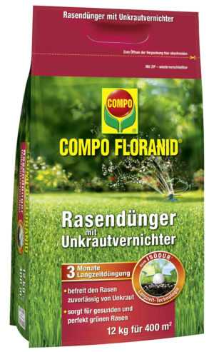 COMPO FLORANID® Rasendünger mit Unkrautvernichter 12 kg für 400 m²