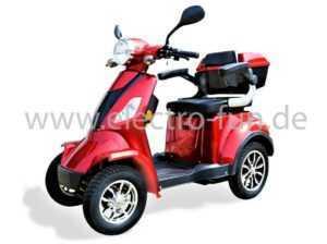 Elektromobil ECO ENGEL 510 Rot, Seniorenmobil 4 Rad