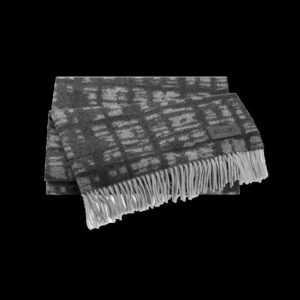 JOOP SHADOW Plaid / Decke 130 x 180 cm Fransen ANTHRAZIT